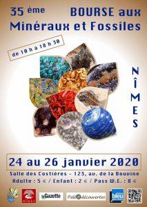 35ème Bourse aux Minéraux et Fossiles @ Salle des Costières
