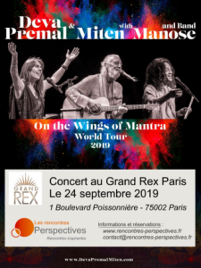 Concert de Deva Premal & Miten with Manose @ Le Grand Rex Paris