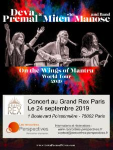Concert de Deva Premal & Miten with Manose @ Le Grand Rex Paris
