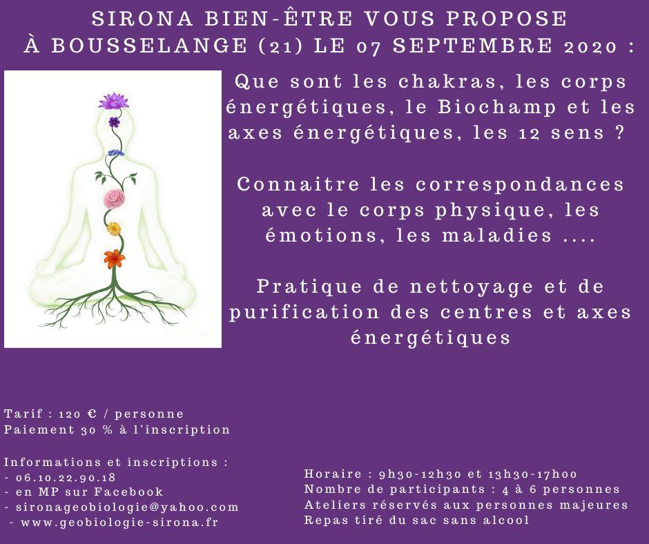 Atelier Centres, Corps et axes énergétiques à Bousselange (21)