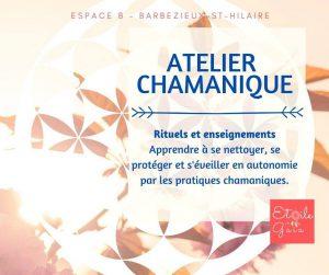 Atelier Chamanique à 16300 Barbezieux-Saint-Hilaire @ Espace B - Coworking Barbezieux