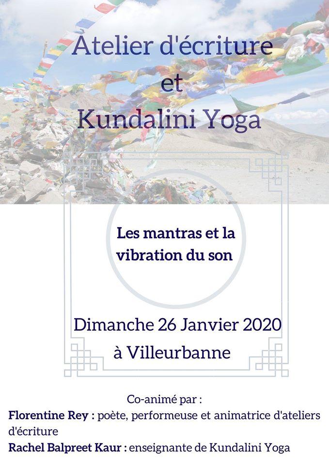 Atelier d'écriture et Kundalini Yoga : les mantras