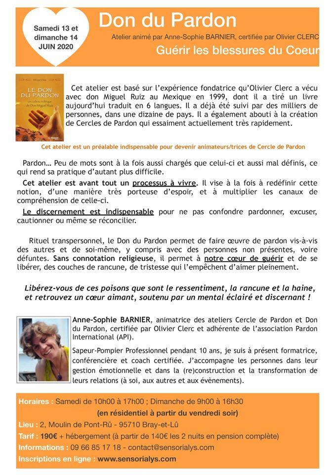 """Atelier """"Le Don du Pardon"""" avec Anne-Sophie Barnier"""