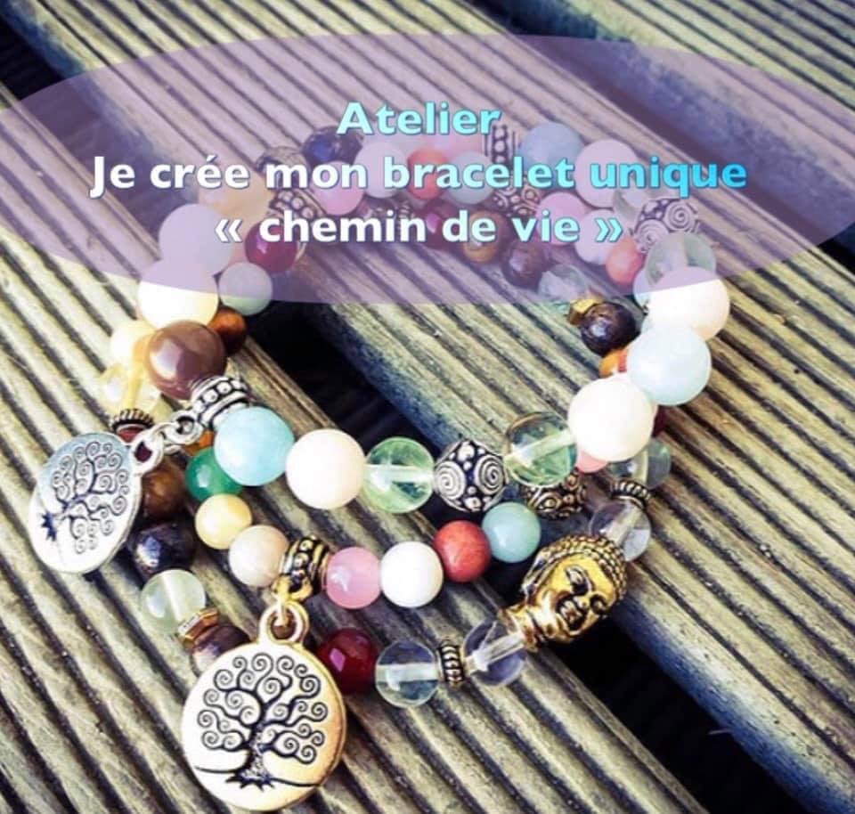 Atelier litho-créatif Bracelet chemin de vie