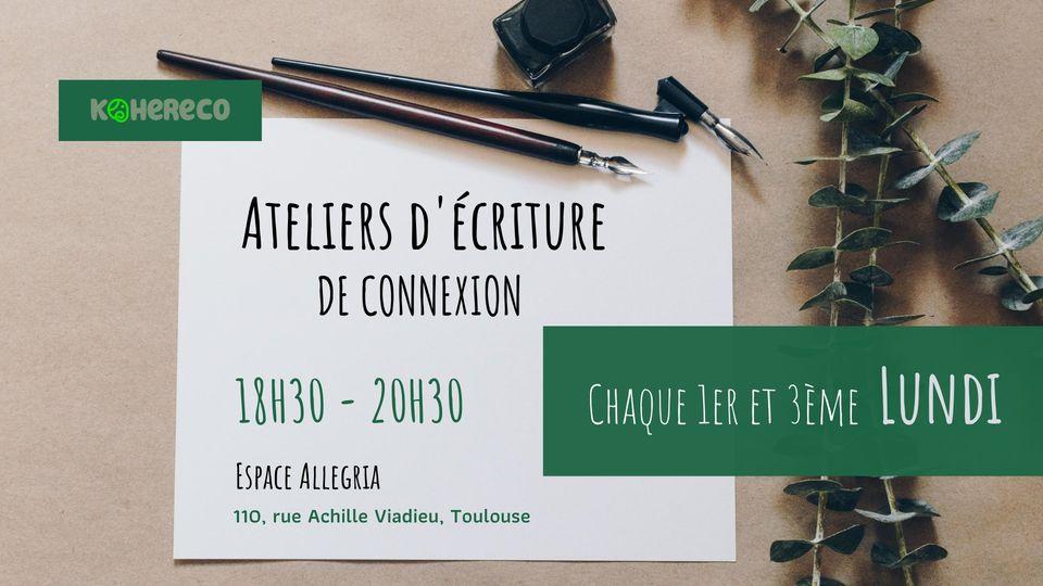 Ateliers d'écriture de connexion à soi à Toulouse