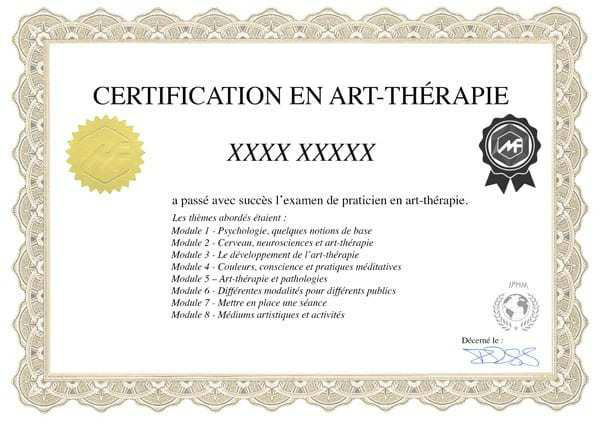 se former en ligne à l'art-thérapie et obtenir un certificat d'art-thérapeute