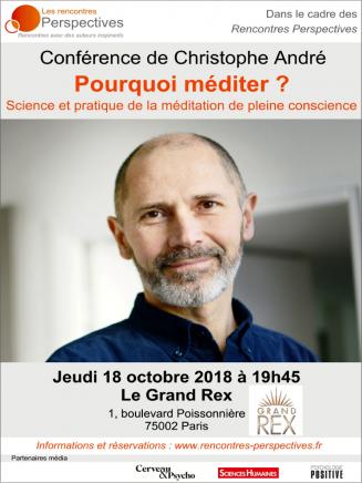 Conférence de Christophe André le 18 octobre 2018 à Paris