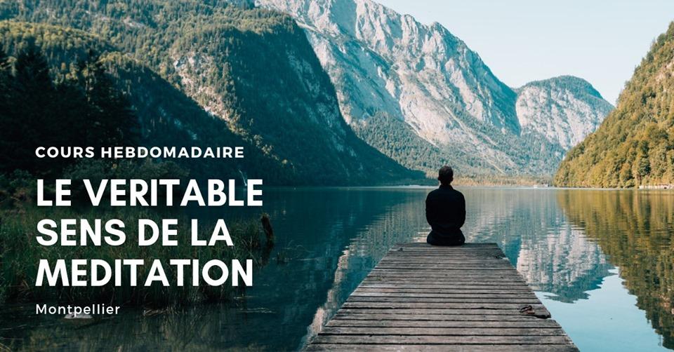 Cours de méditation hebdomadaire à Montpellier