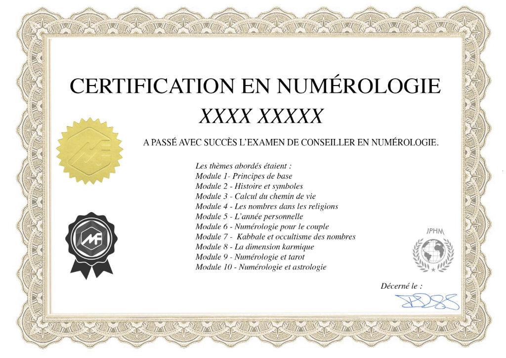 formation en ligne certifiante en numérologie