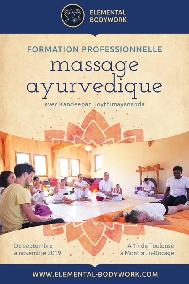 Formation en Massage Ayurvédique avec Kandeepan Joythimayananda