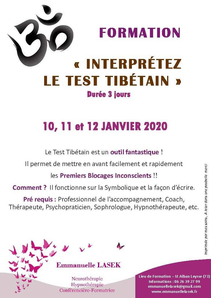 Formation Interprétez le Test Tibétain