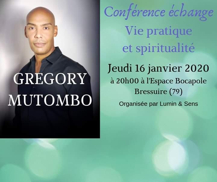 Gregory Mutombo Conférence Echange