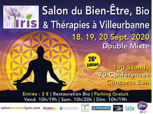 Iris le Salon du Bien Etre septembre 2020 à Lyon