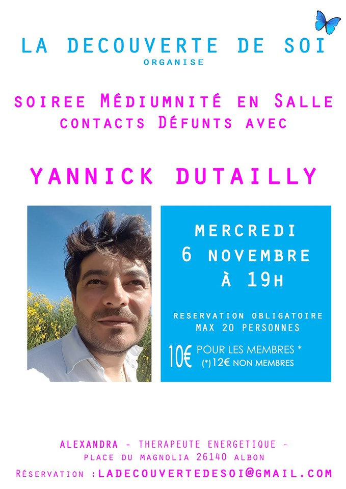 Médiumnité en Salle – contacts Défunts Yannick