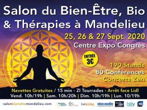 Salon Bien Etre, Bio & Thérapies 2020 de Mandelieu @ Centre Expo Congrès Mandelieu