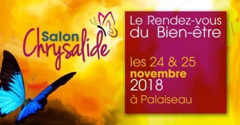 Salon du Bien-être Chrysalide les 24 et 25 novembre 2018 à Palaiseau