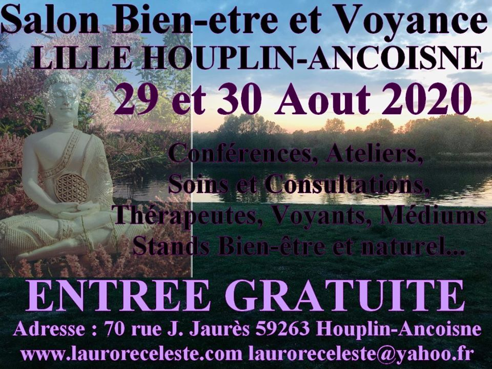 Salon du Bien-être Voyance Lille Houplin Ancoisne 29 et 30/08/20