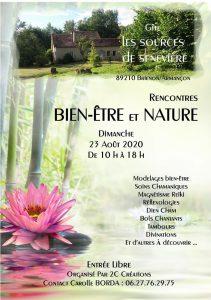 """Salon Rencontres Bien-être et Nature en Plein Air à Brienon 2020 @ Gîte et lieu de stages """"Les Sources De Sennevière"""""""