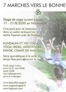 Stage de yoga en Normandie 17-21/8/2020 @ Ayurveda Tapovan