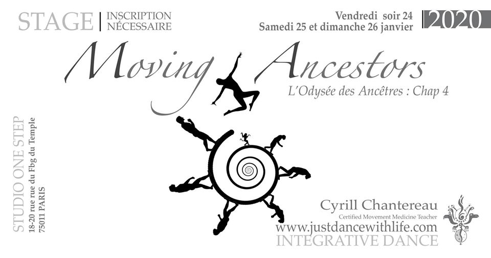 Stage Moving Ancestors janvier 2020 Paris (75)