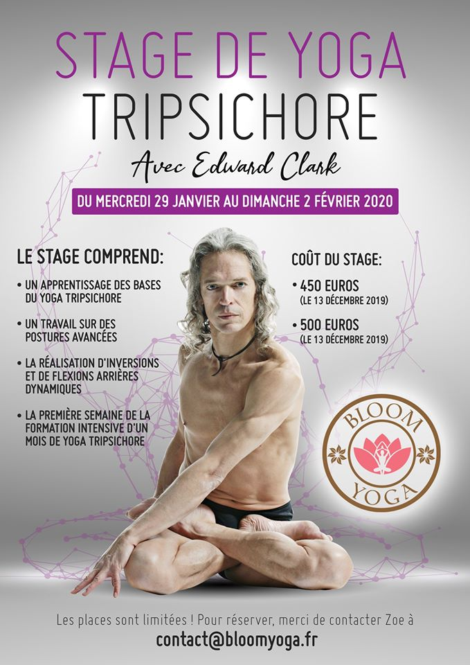 Un Stage de Yoga Tripsichore avec Edward Clark