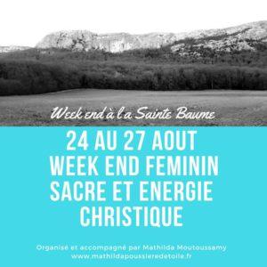 Week end Féminin sacré et énergies christiques